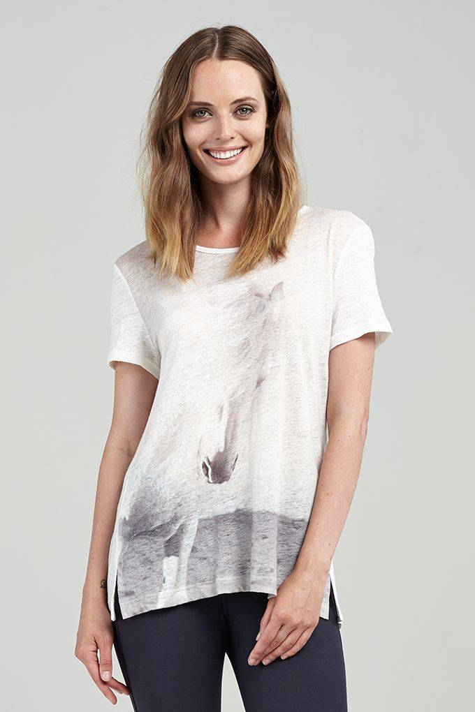 Asmar Cheval Linen Tee - Ladies