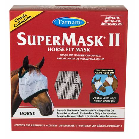 Supermask II Horse Fly Mask without Ears Classic Collection