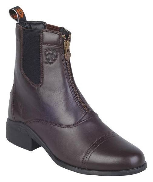 Ariat Heritage III Zip Paddock Boots - Ladies, Chocolate