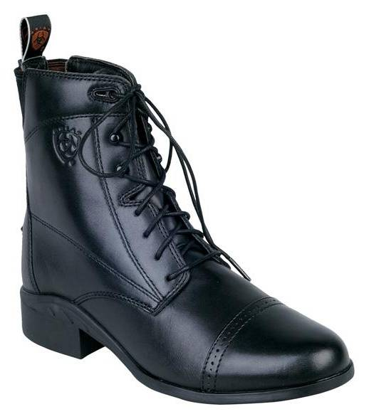 Ariat Ladies Heritage III Lace Black Paddock Boots