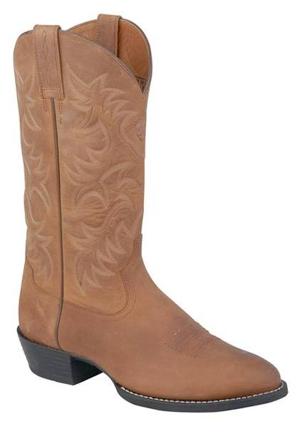 Ariat Mens Distressed Brown Heritage R Toe Western Boots