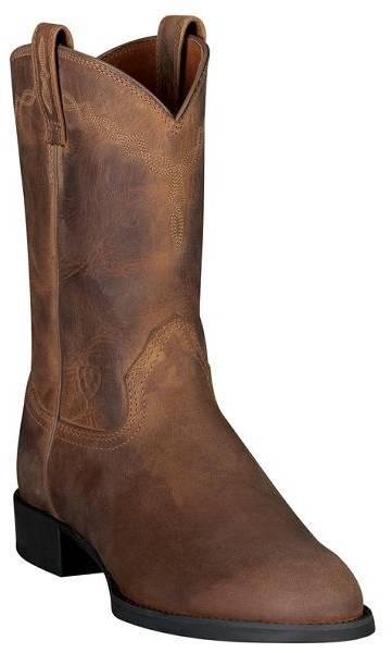 Ariat Mens Black Heritage Roper Boots