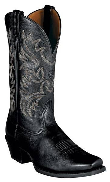 Ariat Mens Black Deertan Legend Western Boots