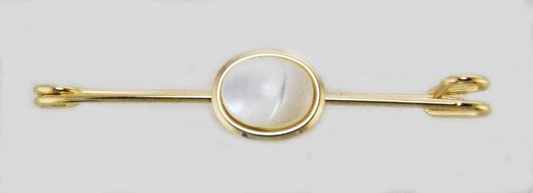 Finishing Touch Stock Pin - Mother Of Pearl Stone