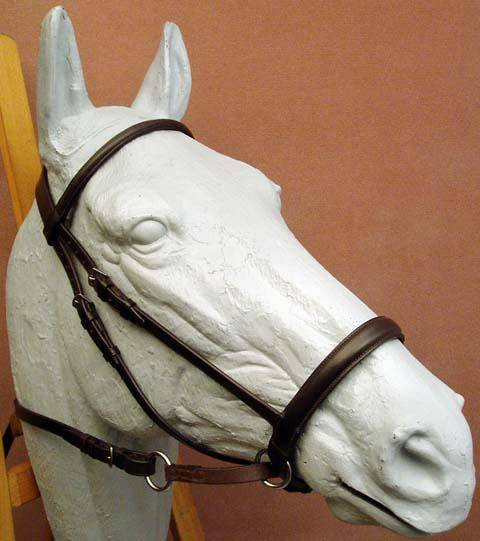Dr. Robert Cook Bitless Bridle English Leather Headstall