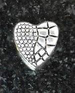 Joppa Textured Heart Bead