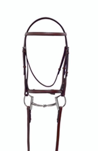 Millstone Plain Raised Snaffle Bridle