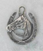 Joppa Horse Head In Horseshoe with Reins