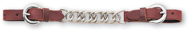 Classic Equine Curb Strap with Flat Stainless Steel Links