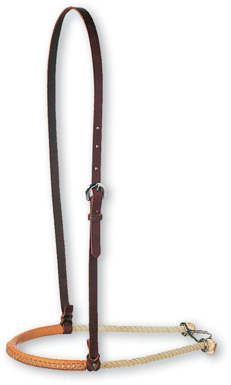 Martin Saddlery Single Rope with Leather Covered Noseband