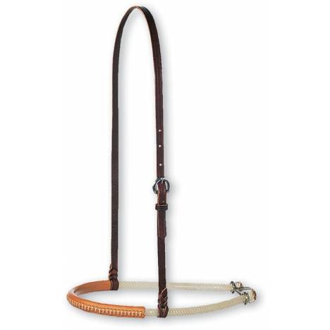 Martin Saddlery Double Rope Leather Cover Noseband