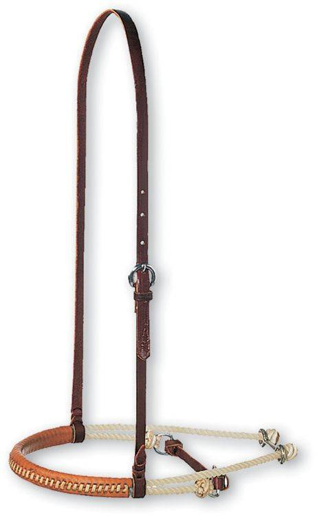 Martin Saddlery Double Rope with Leather Cavesson