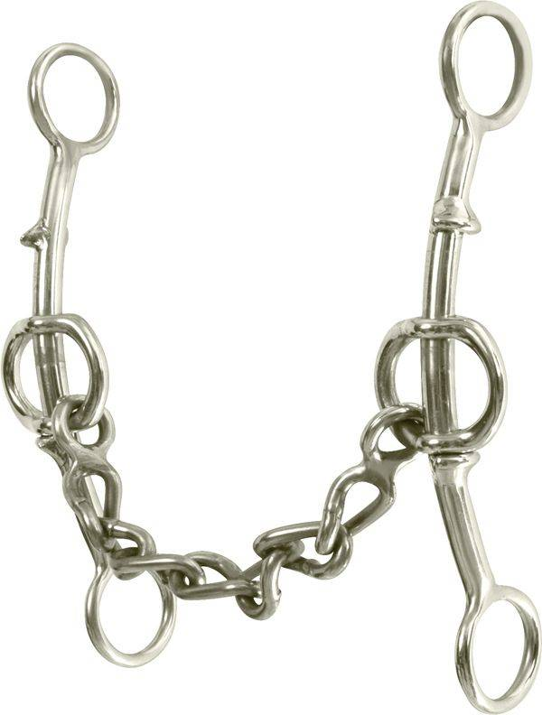 Classic Equine Goosetree Double Gag Short Shank Chain Bit