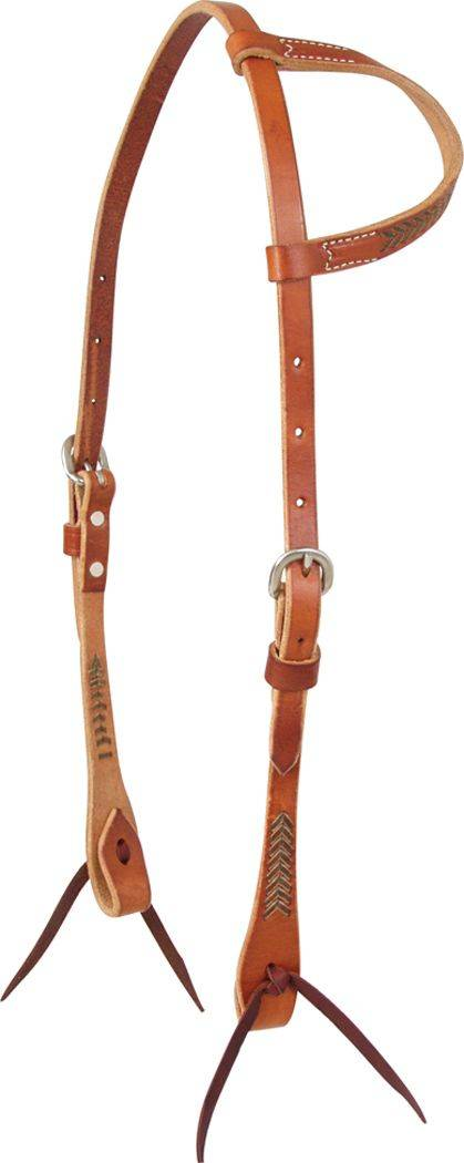 Martin Saddlery Slip Ear Headstall with Rawhide Accents