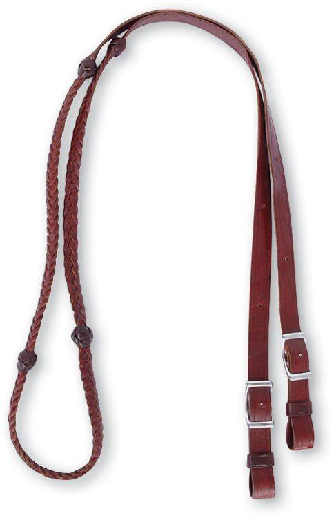 Martin Saddlery Barrel Reins with Braided Knots