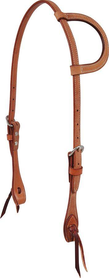 Martin Saddlery Natural Roughout Leather Slip Ear Headstall