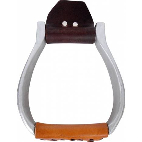 Martin Saddlery Engraved Aluminum Flat Bottom Western Stirrup