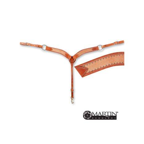 Martin 2'' Breast Collar - Roughout Leather, Dots