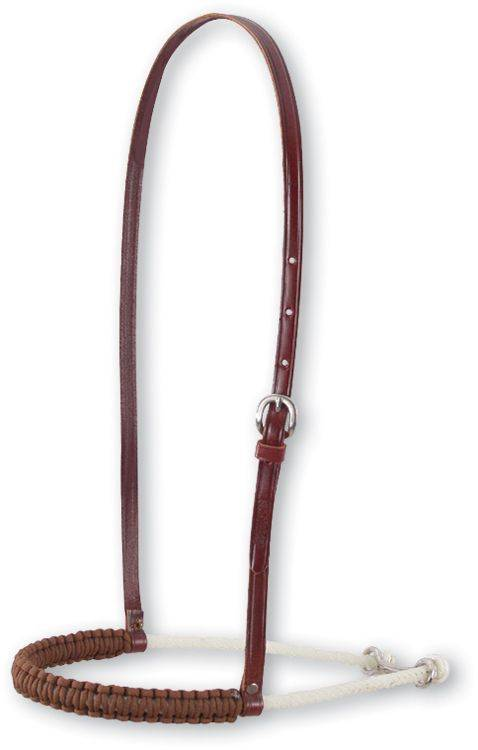 Martin Saddlery Rope Noseband with Braided Nylon Cover