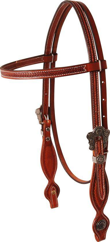 Martin Brow band Headstall - Rockin Out Sheridan Buckles