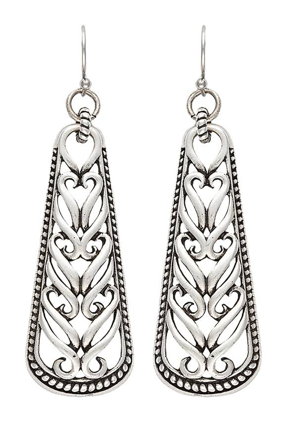 Rock 47 Knotted Lace Scroll Earrings