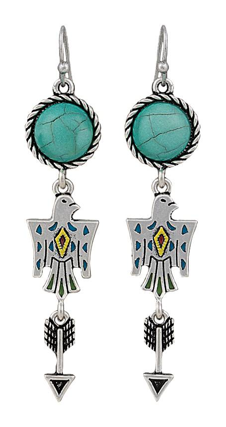 Rock 47 Tribal Flair Charms Earrings