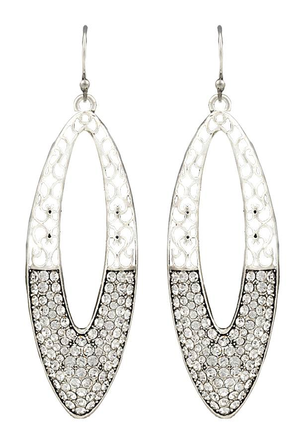 Rock 47 Vintage Kitsch Day & Night Marquis Earrings