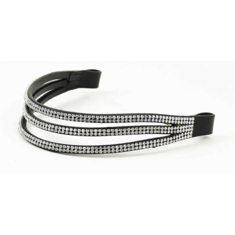 Ovation Elegant Browband-3 Row Stones