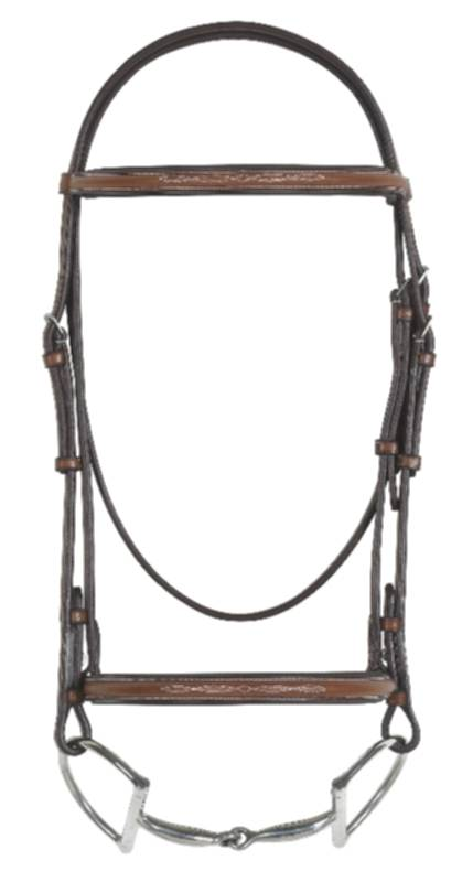 Rodrigo Fancy Raised Padded Bridle, Less Reins