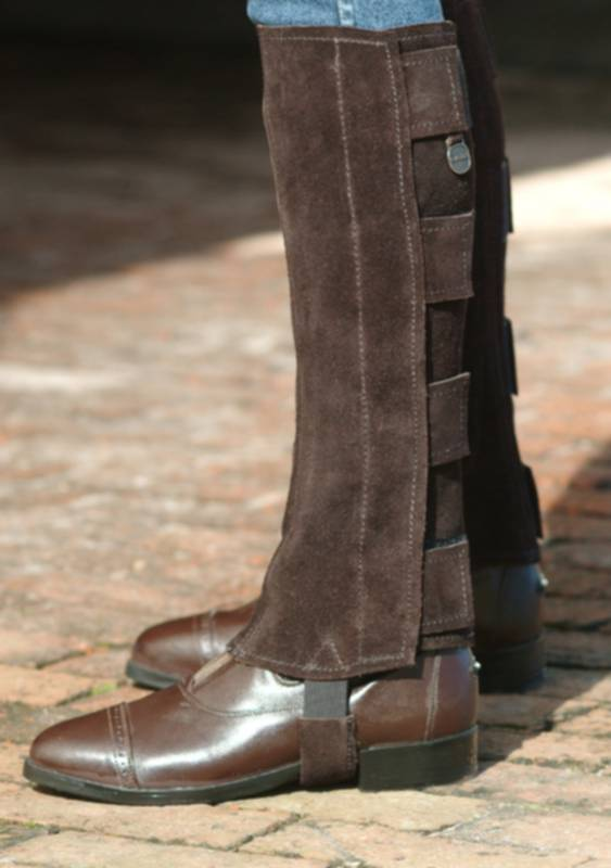 Ovation Kids Suede Half Chaps with Hook & Loop Closure Tabs
