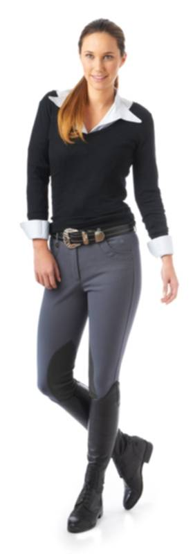 Ovation Ladies Eurolite Brighton DX Knee Patch Riding Breech