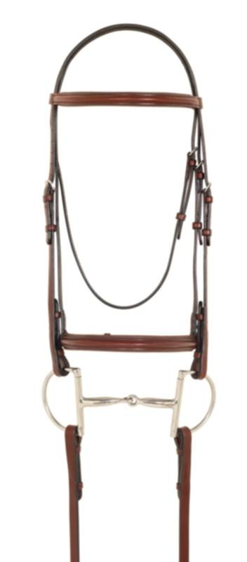 Camelot Plain Raised Padded Bridle