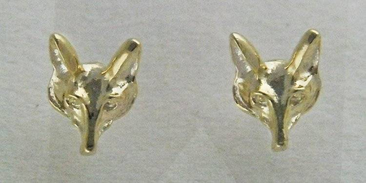 Finishing Touch Finishing Touch Fox Mask Post Earring Gold