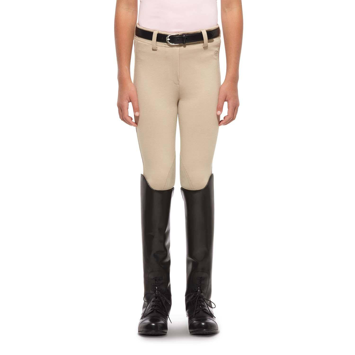 Ariat Heritage Knit Pull On Breeches - Kids, Tan