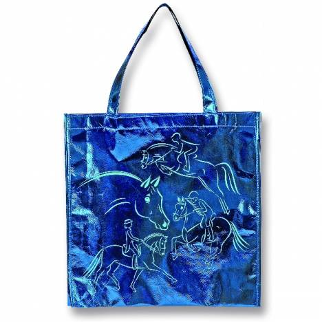 Kelley Metallic Blue Tote