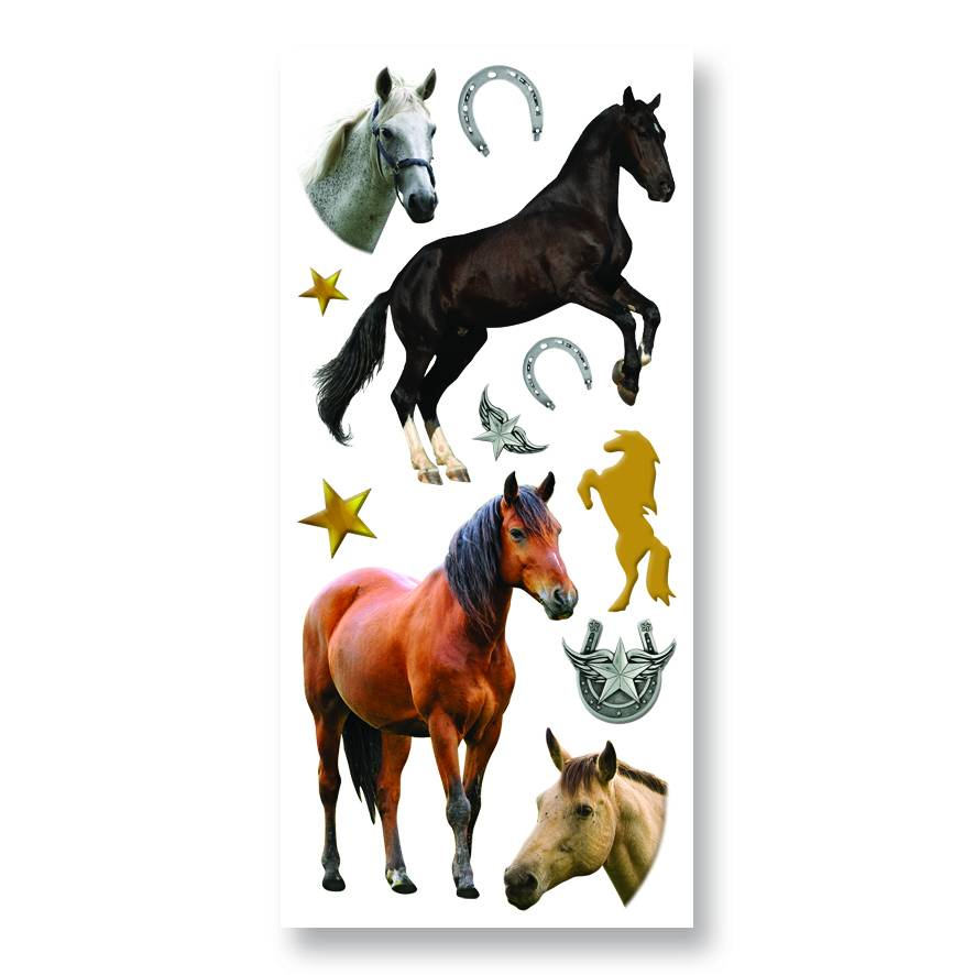 Kelley Horse Puffy Stickers