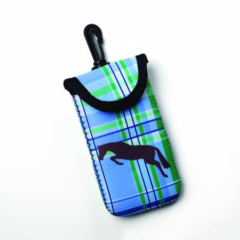 Kelley Tek Trek Smart Phone Case - Lt Blue Plaid Jumper