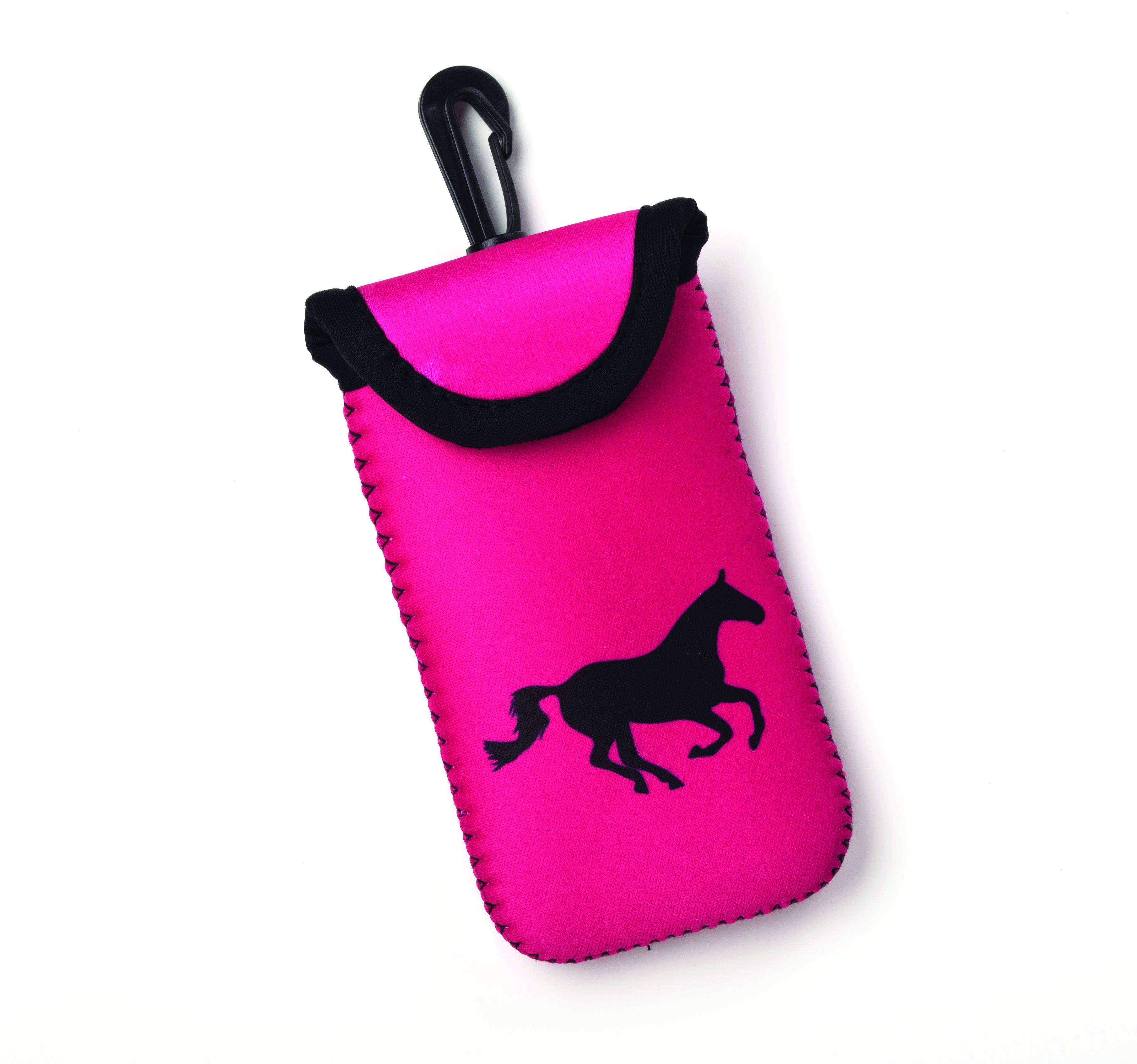 Kelley Tek Trek Smart Phone Case - Pink with Galloping Horse
