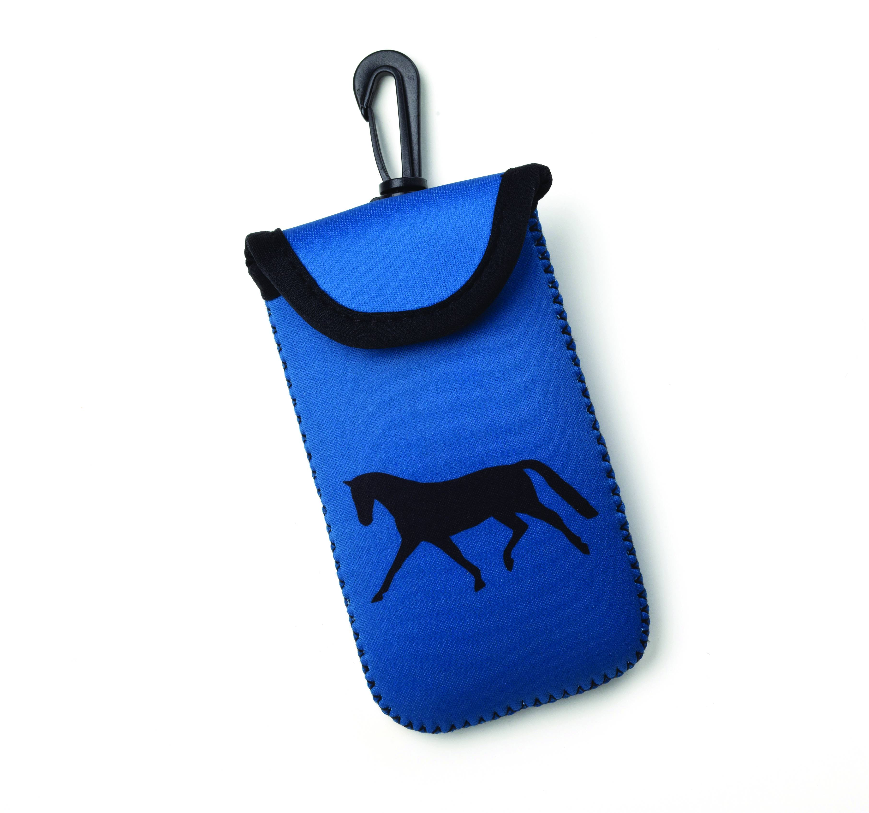 Kelley Tek Trek Neoprene Smart Phone Case - Teal with Dressage Horse