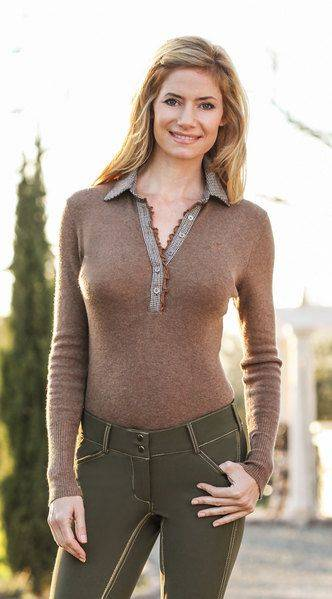 Goode Rider Polo Sweater - Ladies