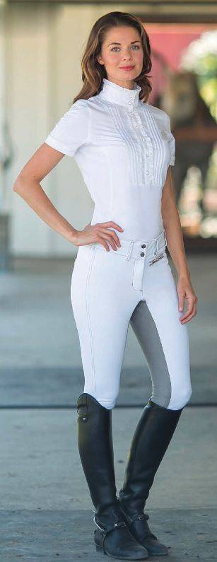 Outlet - Goode Rider Iconic Breeches - Ladies, Full Seat, 30 Regular, White