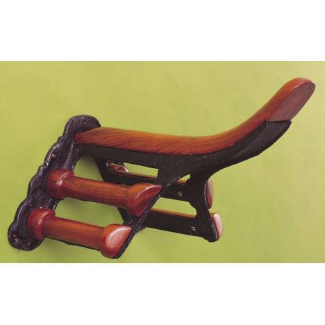 Horse Fare Cast Iron & Wood Saddle Rack