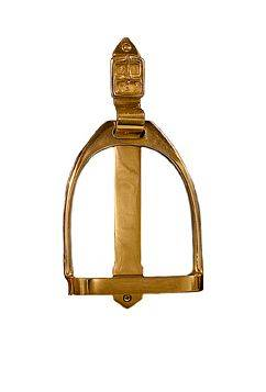 Horse Fare Stirrup Door Knocker