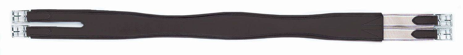 HFP Split End Overlay Leather Girth