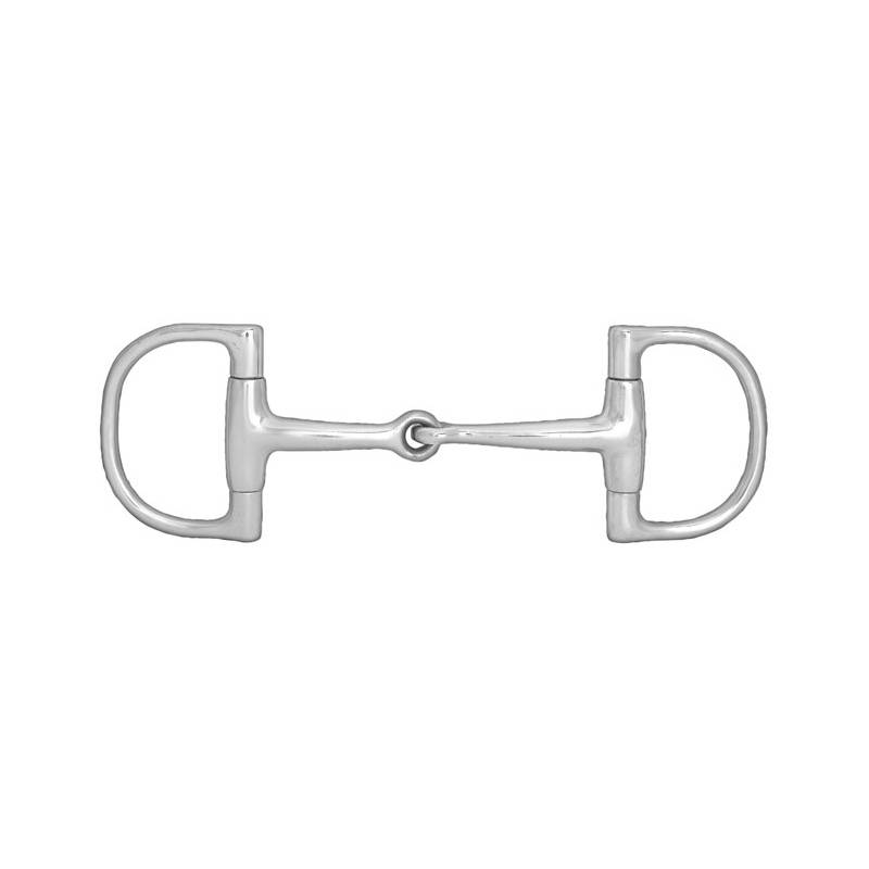 Horze D-Ring Single Joint Snaffle Bit