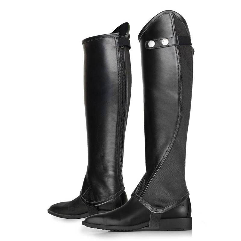 Horze Adult Soft Leather Half Chaps with Elastic