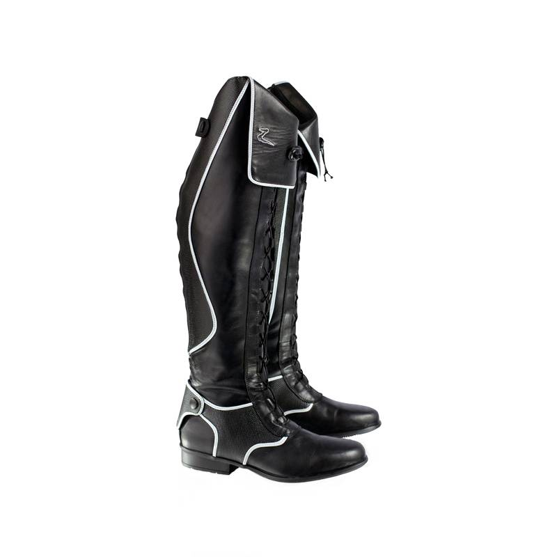 Outlet - Horze Ladies Susies Tall Boots with Laces, EU 41/US 9.5, Black
