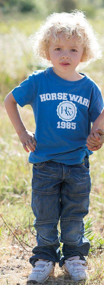 Horseware Novelty Tee - Boys, Parisian Blue