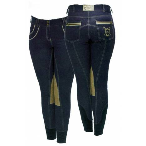 Horseware Polo Nina Denim Breeches - Ladies, Knee Patch