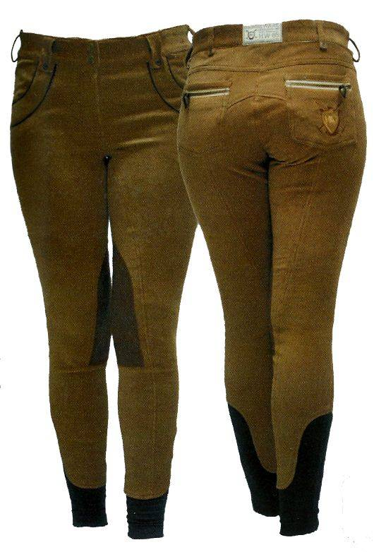 Outlet - Horseware Polo Nina Corded Breeches - Ladies, Knee Patch, 28, Toasted Coconut